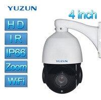 4 Inch Mini Size 2.0MP IP Camera Wi fi Wireless IP PTZ Camera Outdoor Onvif P2P Speed Dome Zoom PTZ IP Camera CCTV Night Vision