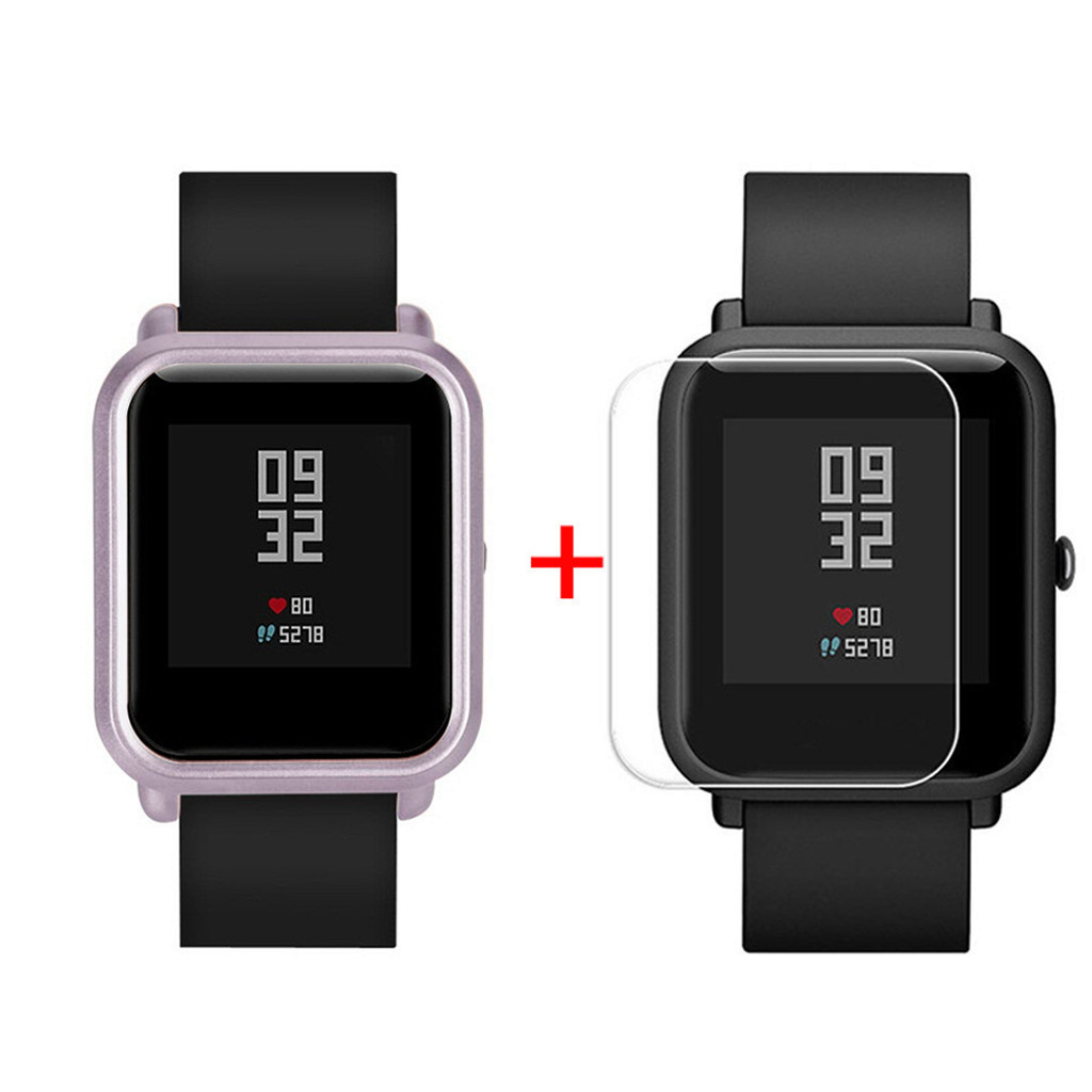 Pc Case Cover Shell For Xiaomi Huami Amazfit Bip Youth Watch With Screen Protector Smart Watch Protector Accessories#20/