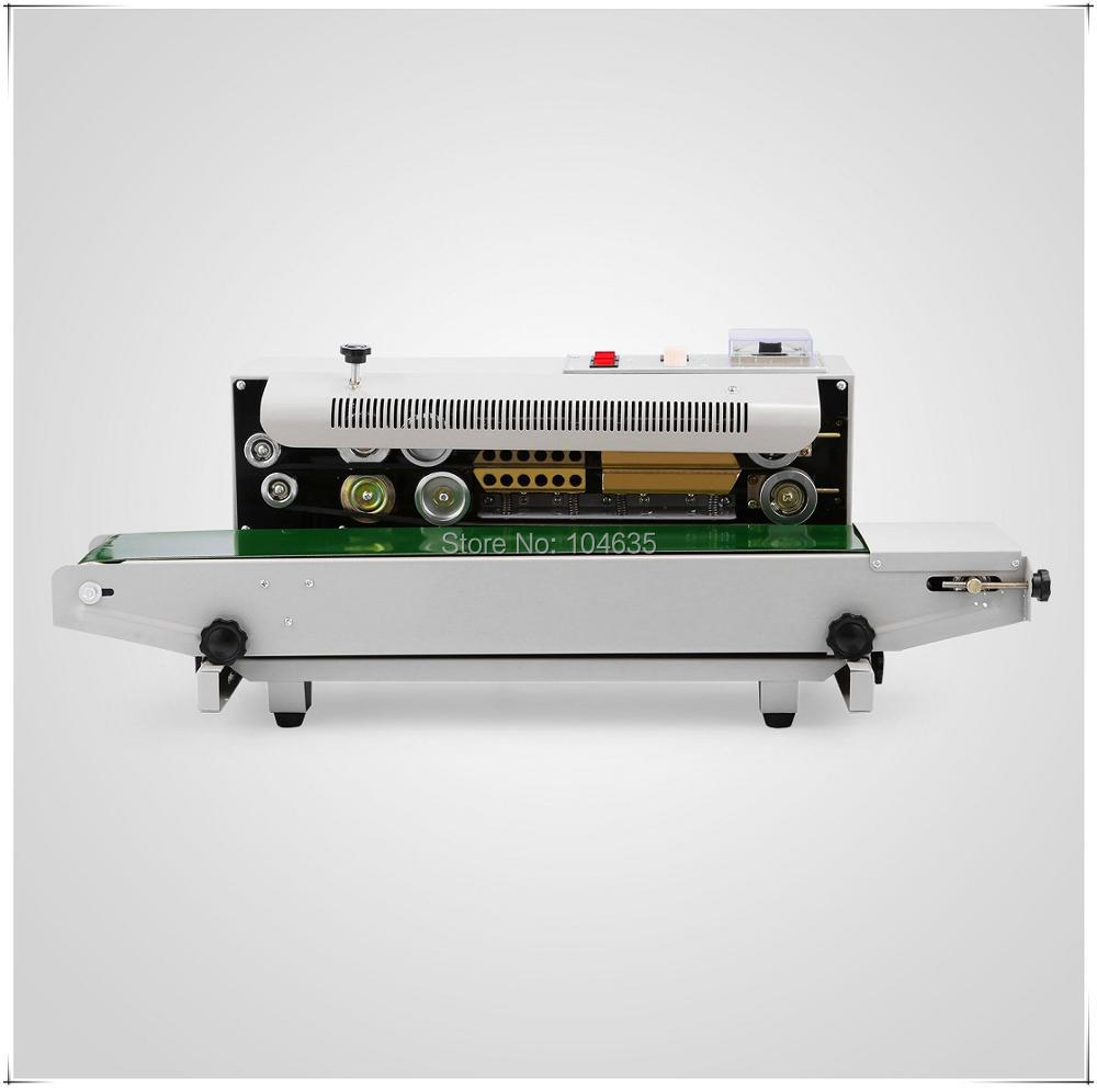 Semi Automatic continuous sealing machine food bag sealer polythene plastic bag sealing machine food packaging sealing machine fr 900l vertical heat sealer sealing machine automatic continuous plastic bag sealing machine steel wheel print
