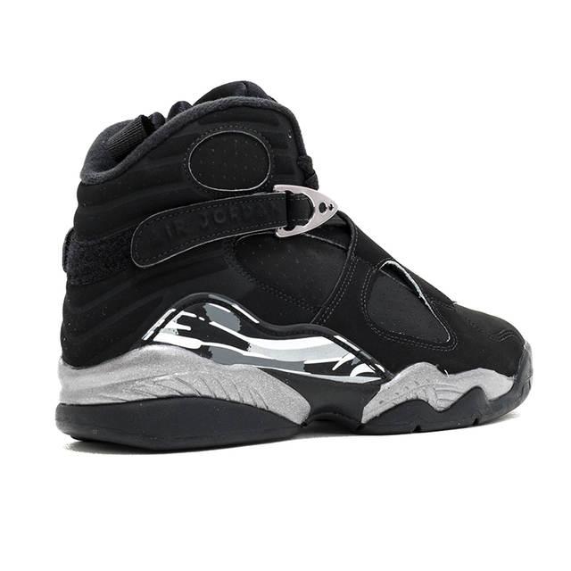 16120b5d4b3 placeholder Original NIKE Air Jordan 8 Joe 8AJ8 Black and Silver Triple  Engraved Men's Basketball Shoes Sneakers