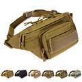 Unisex Cintura Bolsa Riñonera Cinturón de cintura bolsas MOLLE Sigilo Pesado Carrier Deber Rango Soldado paquetes de la cintura