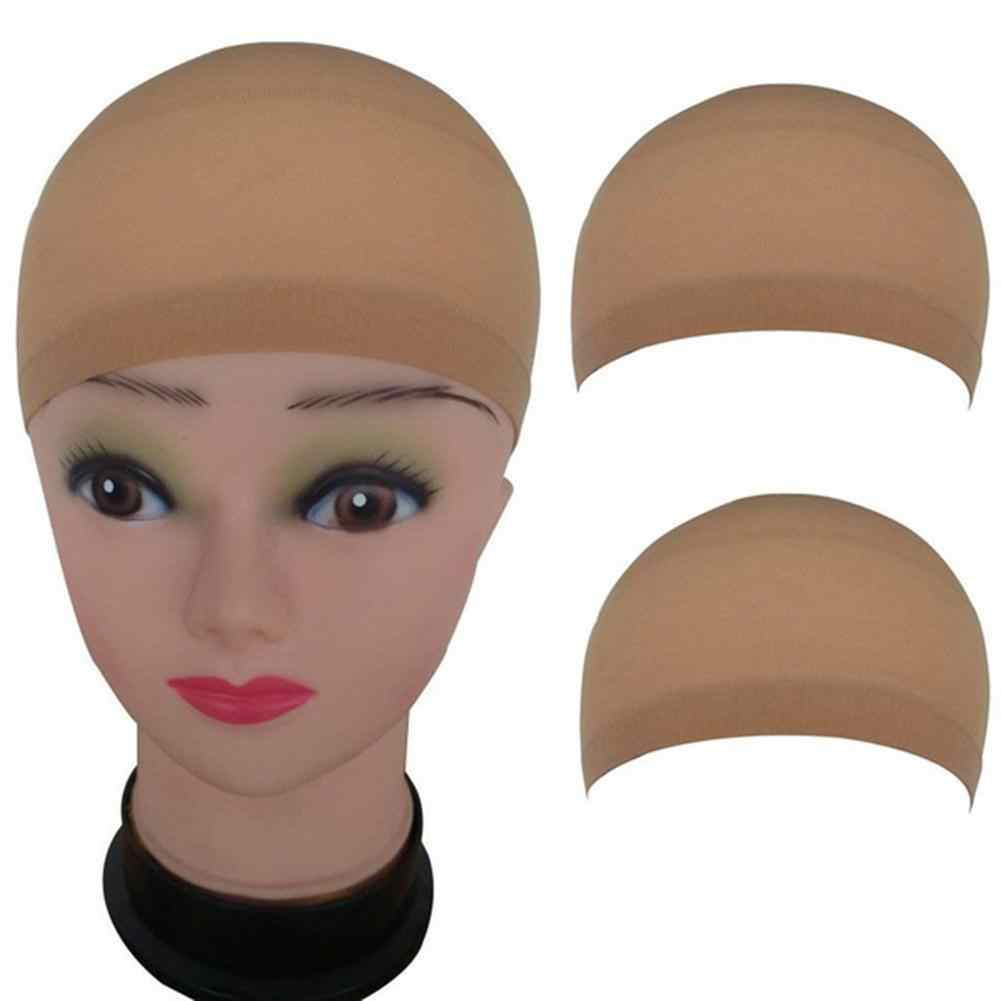 2Pcs/Lot Elastic Lace Bandage Hairnet  Breathable Mesh Wig Hat Soft Nylon Stretch Cap