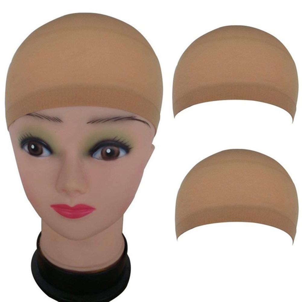 2Pc/Lot Nylon Wig Cap Hair Net For Weave Hairnets Wig Nets Elastic Lace Bandage Hairnet Breathable Mesh Wig Hat Soft Stretch Cap