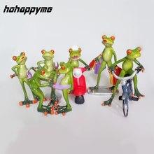 Новый фигурка лягушки пикантные современные смолы дома Скульптура Куклы Смола Модель странно подарки ремесла животных Украшения украшения дома