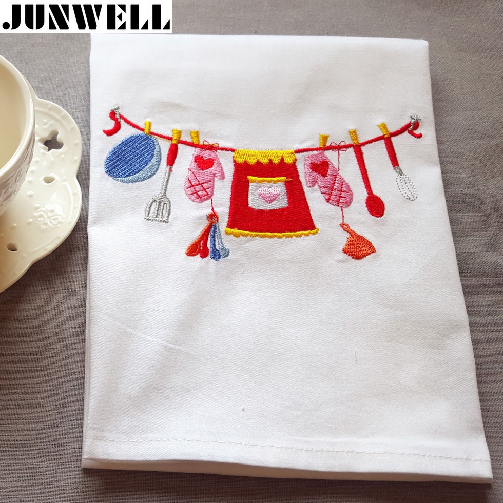 6 unids/lote 45x70 cm algodón dishtowel toalla de cocina Toalla de ...