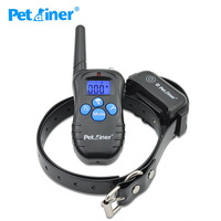 Petrainer Dog Training Collar Domestic Delivery Anti Bark Collar Dog Agility Equipment 300M Waterproof And Rechargeable
