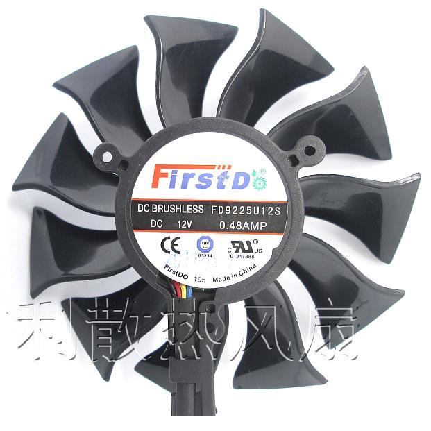 85mm Firstd FD9225U12S DC 12 V 0.48A 4Pin Lufter Ersatz Fur Sapphire HD5830 HD6870 6790 Graphics Grafikkarte Fan neue computador lufter ersatz twin frozr ii msi r7770 hd 7770 n460 n560 gtx graphics grafikkarte fans pld08010s12hh