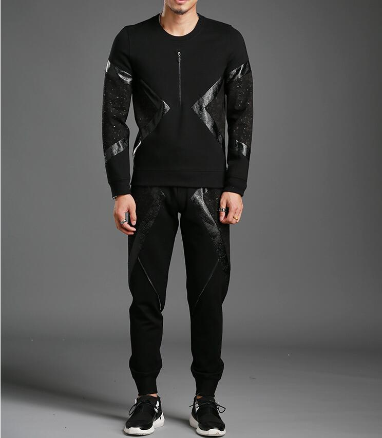 Hoodies Set Casual Men's Tracksuit Two Piece Sets High Quality Cotton