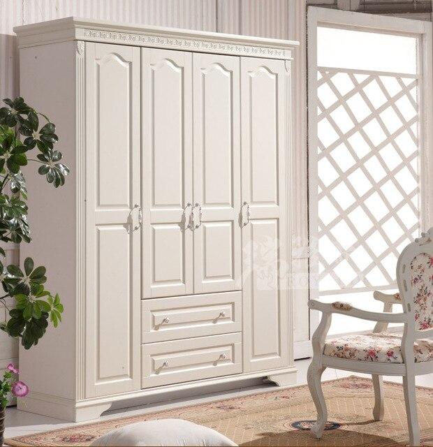 Adesivo De Parede Wolverine ~ Roupeiro quarto conjunto de móveis de madeira maciça armário de madeira simples de quatro porta
