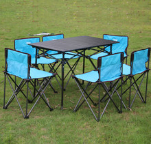 Outdoor folding table portable camping picnic table without chairs 140*70*70CM