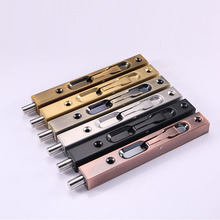 Retractable Stainless Steel Latch Door Box Double Plug Long Opening Movable Locking Pin GHS99