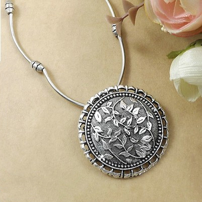 AIFEILI 2018 Fashion DIY Folk Style Tibetan Jewelry Women Wholesale Fashion Circular Plant Necklace