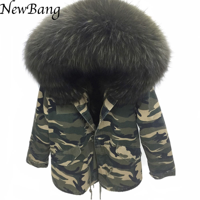Detail Feedback Questions about 2016 Camo Parka Camouflage Coat With Large  Raccoon Fur Collar Hood Womens Parkas Outwear 2 in 1 Detachable Lining  Winter ... e033039e41