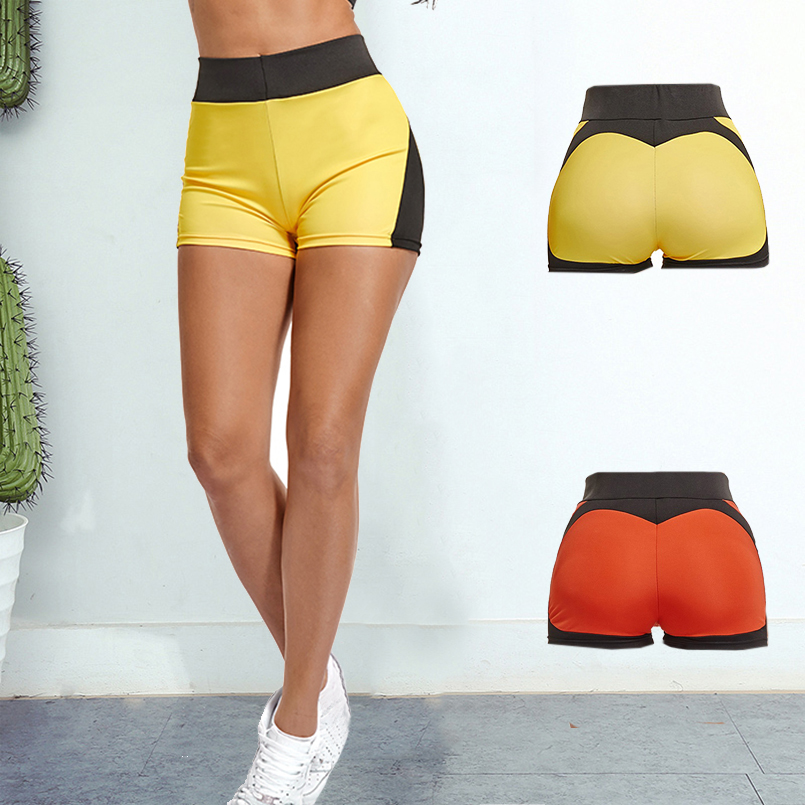 Women's Sports Wear Shorts Fitness Clothing Running Compression Pantalon Corto Patchwork For Girls Gym Workout Wear Bottoms