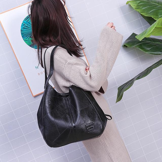 Hobos Bag Women Leather Handbags Female Shoulder Bags Lady Tote Soft Bag Vintage Bags for Women Casual Bolsos Feminina 2019 Sac 5