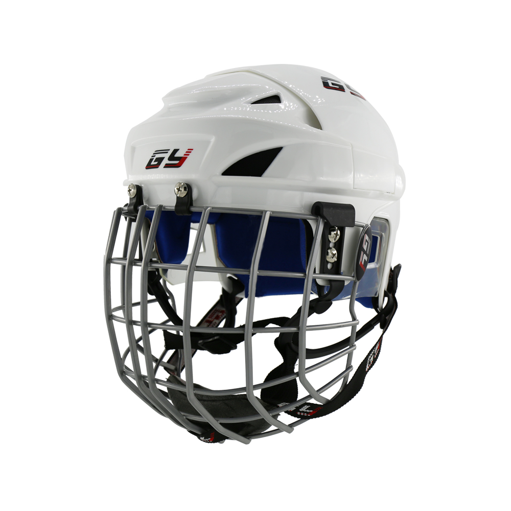 2018 Upgraded Ice Hockey Helmet Combo Mask face Shield Cage Steel Guard Equipment Children hockey Gear Blue Impact Resistance magideal ice hockey helmet soft eva liner with cage for player hockey face shield xs s m l xl