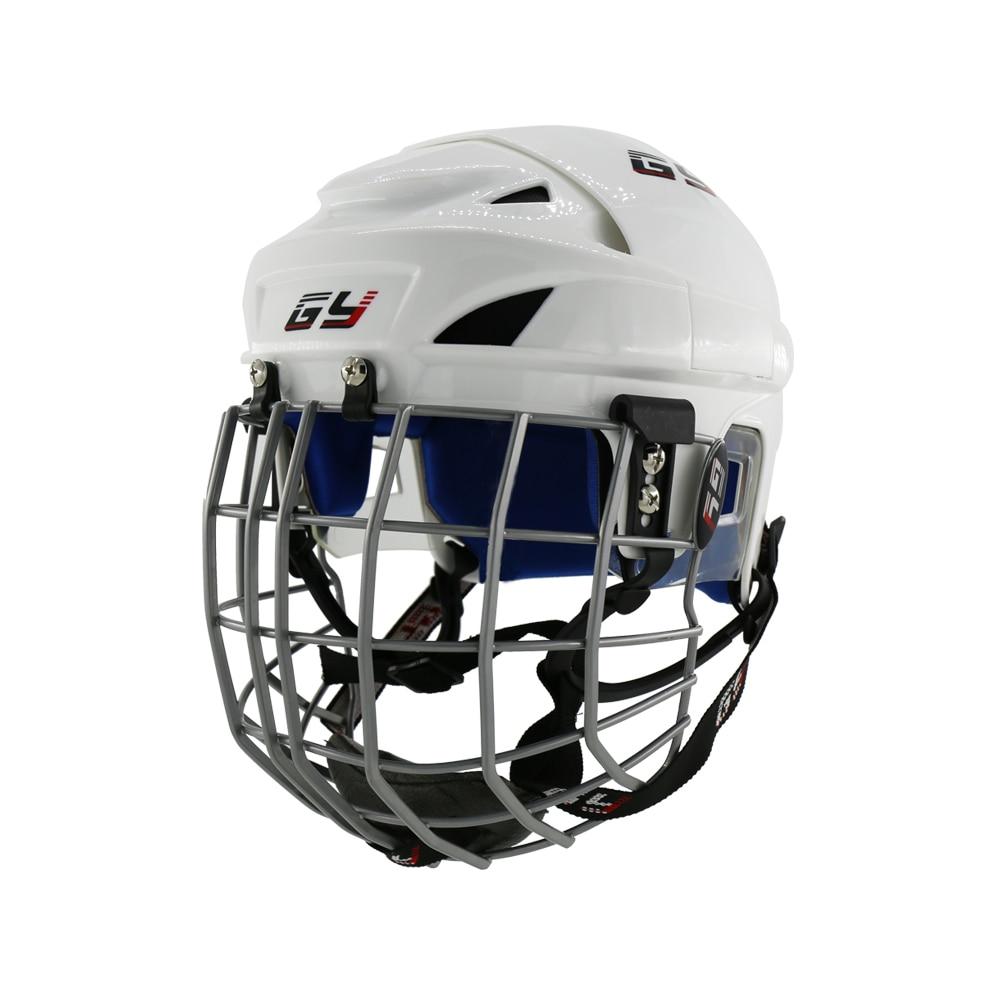 hockey combo visor - 2019 Upgraded Ice Hockey Helmet Combo Mask face Shield Cage Steel Guard Equipment Children hockey Gear Blue Impact Resistance
