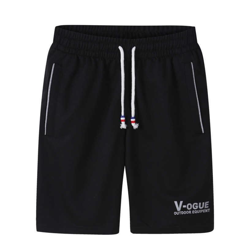 4 PC lato plaża szorty mężczyźni 2019 Casual kulturystyka spodenki męskie oddychające bawełniane sportowe krótkie spodnie Plus rozmiar 4XL 5XL