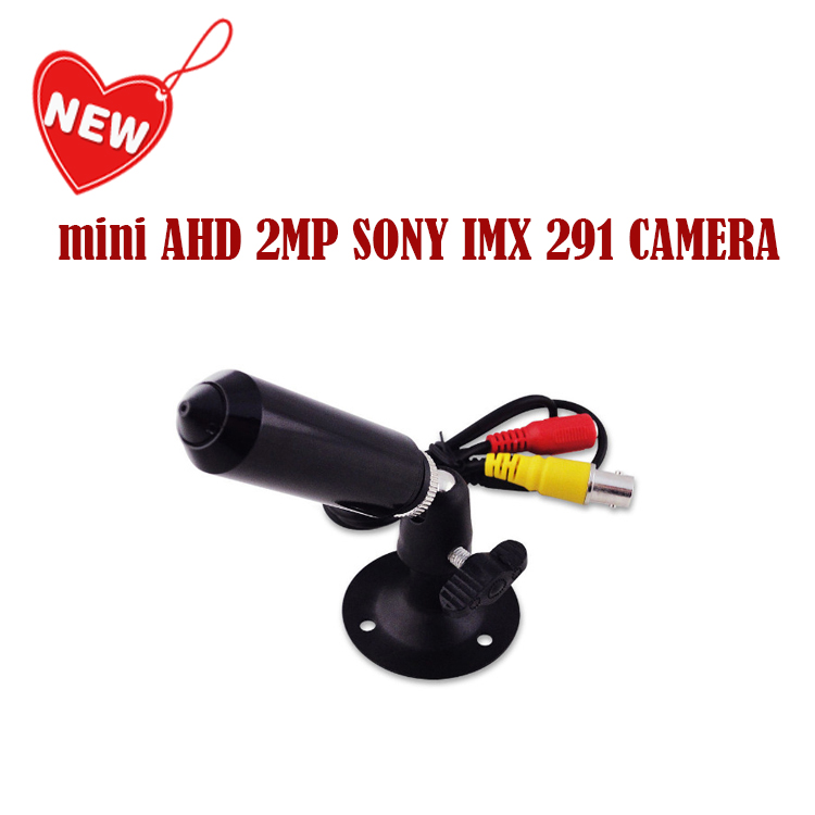 New MINI AHD SONY Sensor IMX291 1080P/2.0MP Mini AHD bullet  CCTV Camera for Home Security Surveillance video cam Free Shipping mini bullet cvbs ccd camera 700tvl with headset mount for mobile surveillance security video 5v