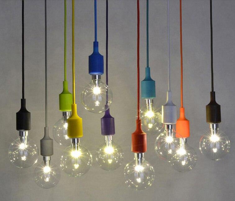 Colore moderno Lampade A Sospensione Supporto E27 AC110-Gel Di ...