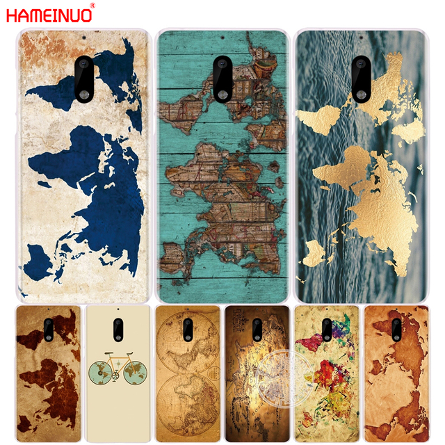 Hameinuo Travel World Map Vintage Cover Phone Case For Nokia 9 8 7 6