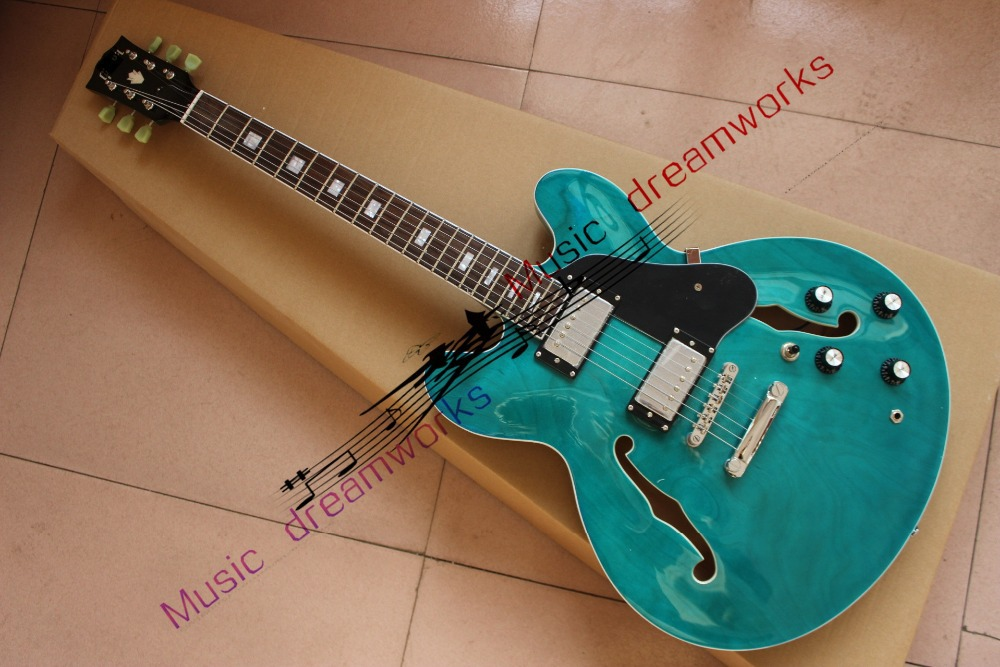 China's guitar firehawk shop OEM High quality Electric Guitar The hollow jazz guitar Color can be changed china oem firehawk guitar wholesale custom shop sg electric guitar active pick up any color can be changed
