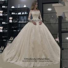 Robe De Mariee размера плюс свадебное платье-бохо аппликации Noat шеи Свадебные платья Vestido De Novias платья Trajes De Novia