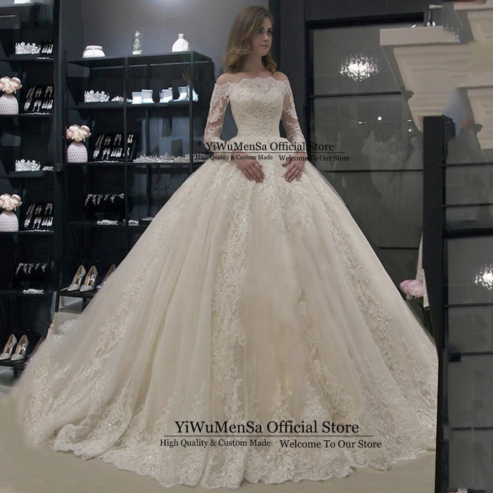Robe De Mariee 2019 Plus Size Wedding Dress Boho Appliques Noat Neck Wedding Gowns Vestido De Novias Dresses Trajes De Novia