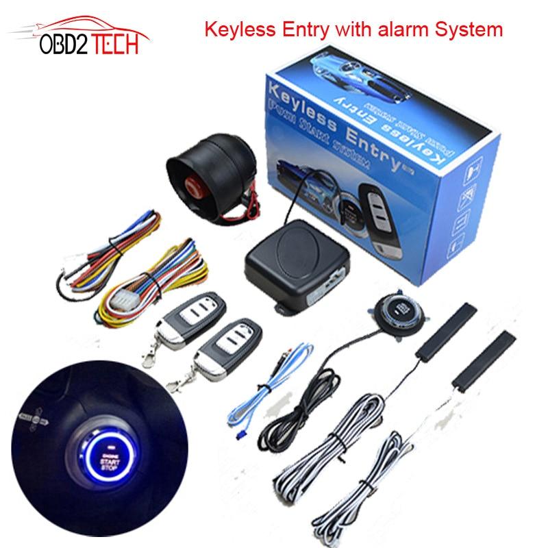 PKE entrée sans clé voiture un bouton démarrage arrêt Modification télécommande allumage préchauffage réfrigération voiture antivol