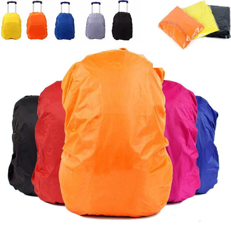 Outdoor Waterproof Backpack Rain Cover Trolley Luggage School Bag Covering Anti-dust Cycling Climbing Hiking Bag Cover 30L-40L