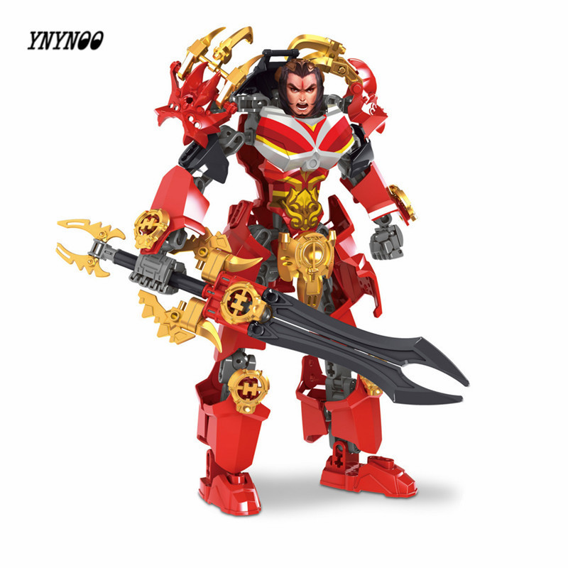 YNYNOO Marvel Avengers Super Heroes Bionicle Building Blocks West Chu tyrants Xiang Yu Heroes DIY Assemble Brick Kid Toys Lepin marvel super heroes avengers wonda iron man mk anti hulkbuster thor vision ultron assemble building blocks minifig kids toys