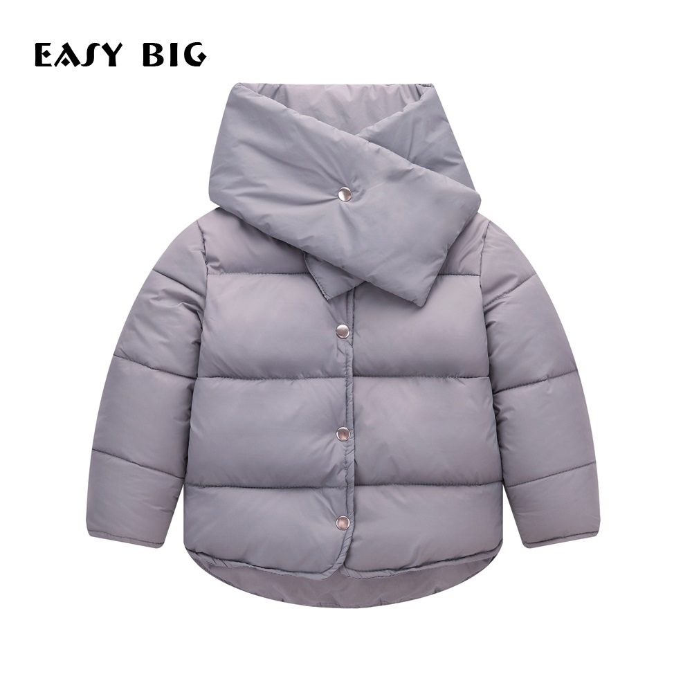 EASY BIG Winter Warm Children Down Jacket For Girls Soft Unisex Children Parkas Jacket For Boys