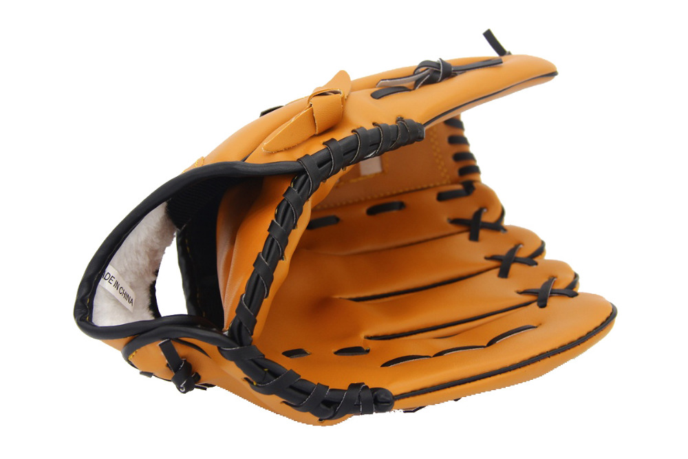 Outdoor Sports PU Brown Baseball Glove Softball Practice Equipment Size 10.5/11.5/12.5 Left Hand for Adult Man Woman Training