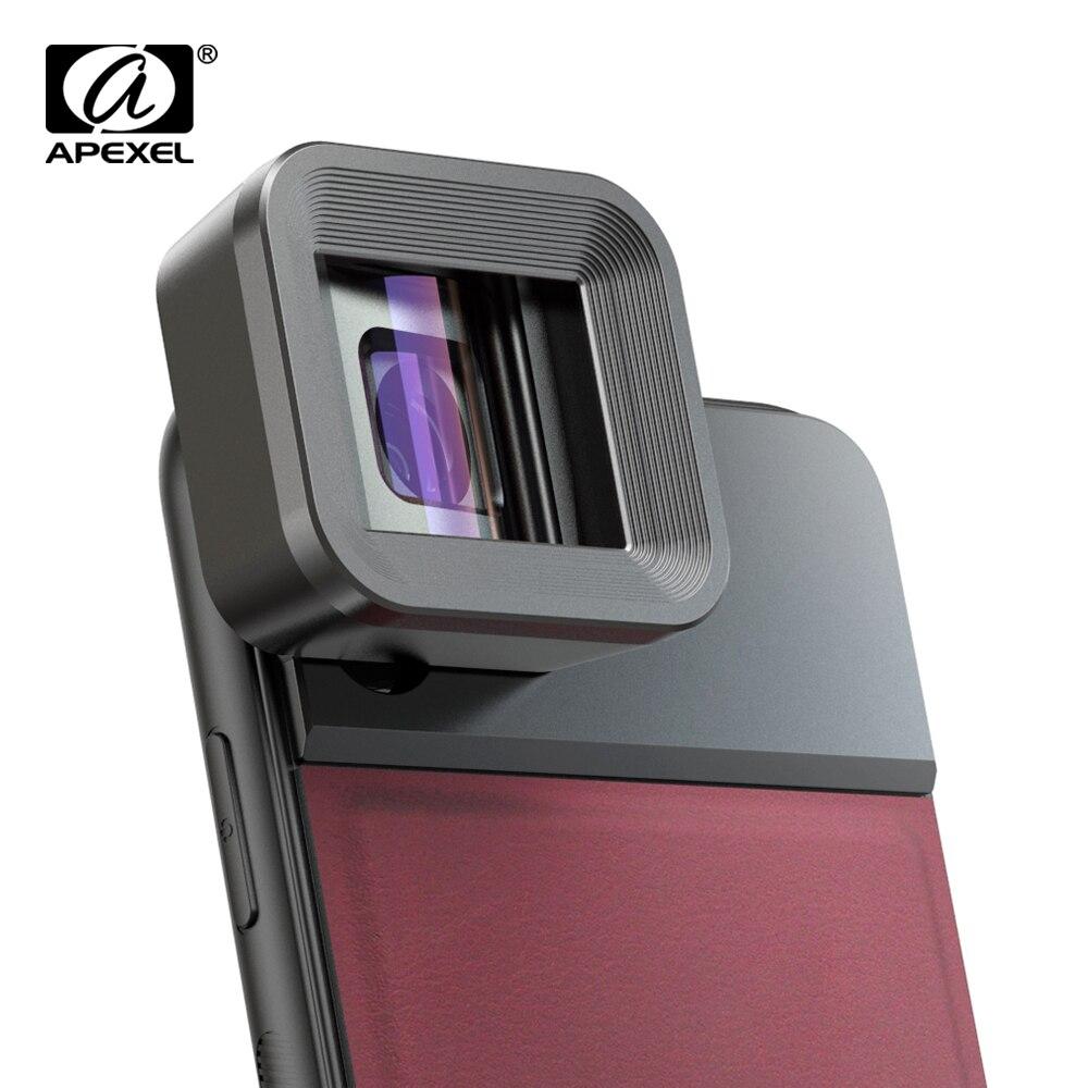 APEXEL HD Lente Anamórfica 1.33x WideScreen Filme de Vídeo Lente da câmera Do Telefone Móvel lente para o Vlog do iphone Huawei smartphones Samsung