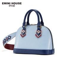 EMINI HOUSE Indian Style Shell Bag Split Leather Shoulder Bag Crossbody Bags For Women Luxury Handbags