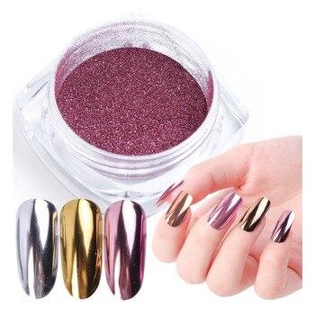 1pcs Nail Art Mirror Pigment Powder Nail Glitter Dip Powder Rose Gold Shining Chrome Powder Decoration UV Gel Polish JIC/ASX
