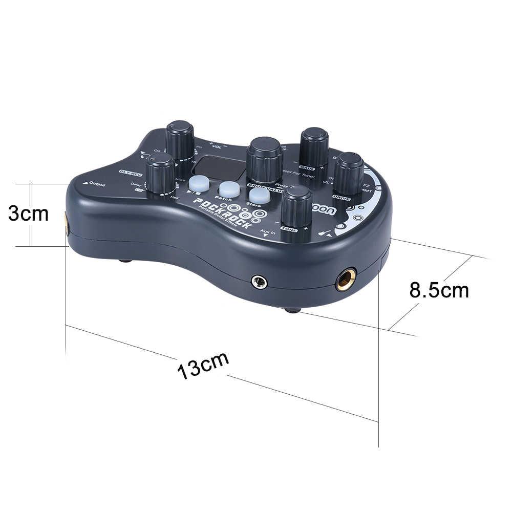 Ammoon PockRock المحمولة غيتار متعدد تأثيرات المعالج تأثير دواسة 15 تأثير أنواع 40 إيقاعات طبل ضبط وظيفة