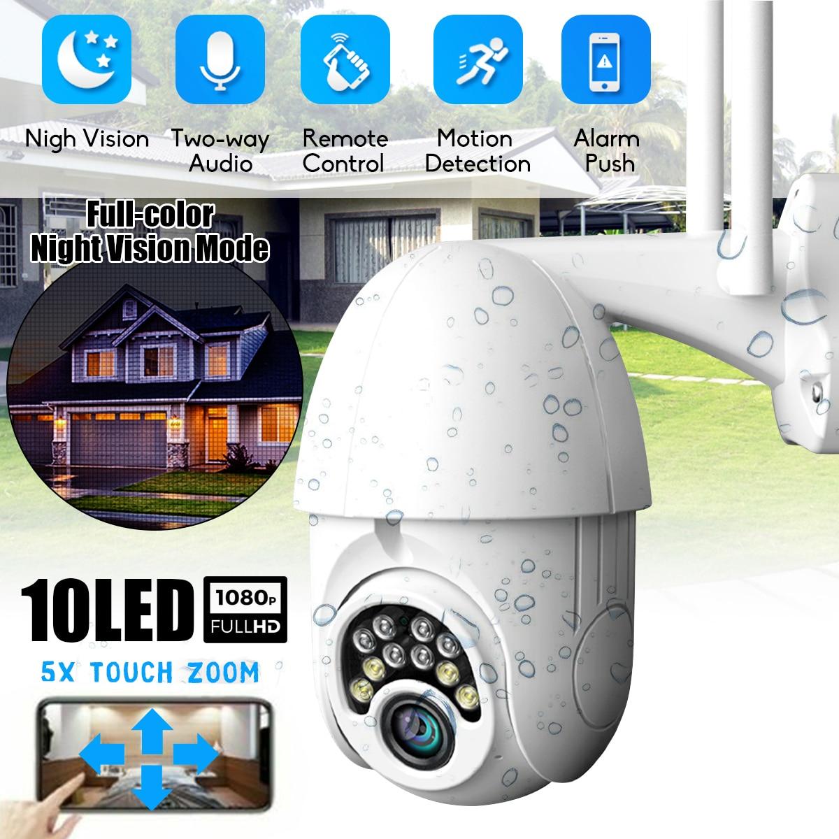 Wireless Outdoor Wifi IP Camera HD 1080P CCTV Security IR Cam Night Vision UK