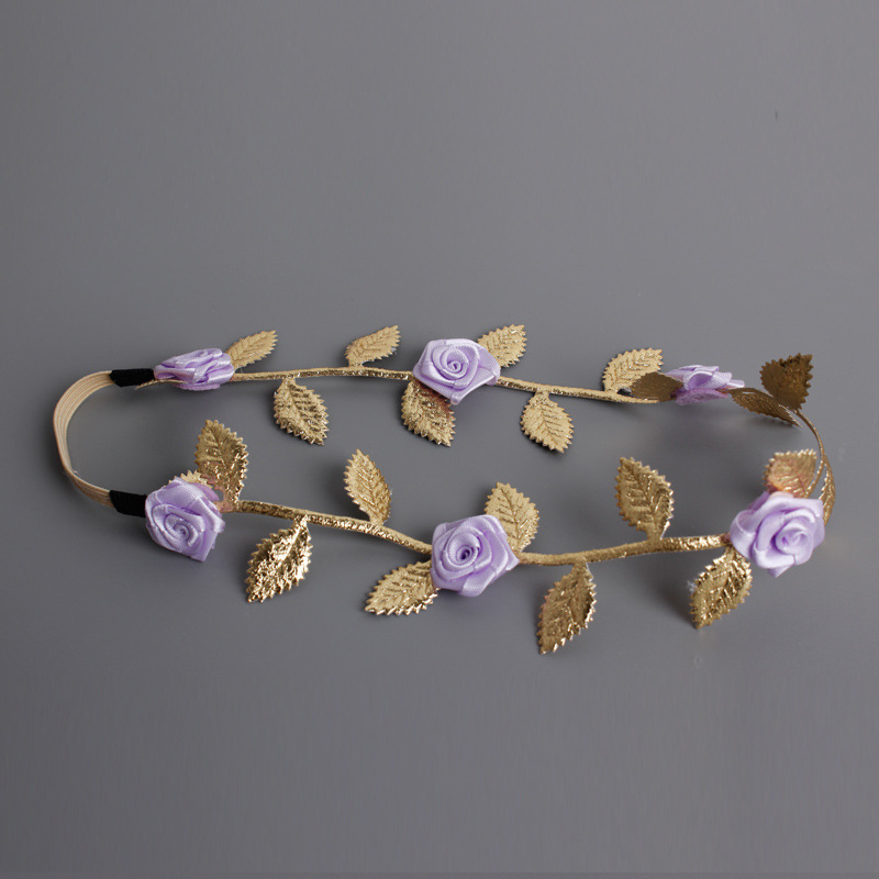 ga new hair decoration rose elastic bands for hair artificial flowers diademas bebes ninas photo use fashion headband