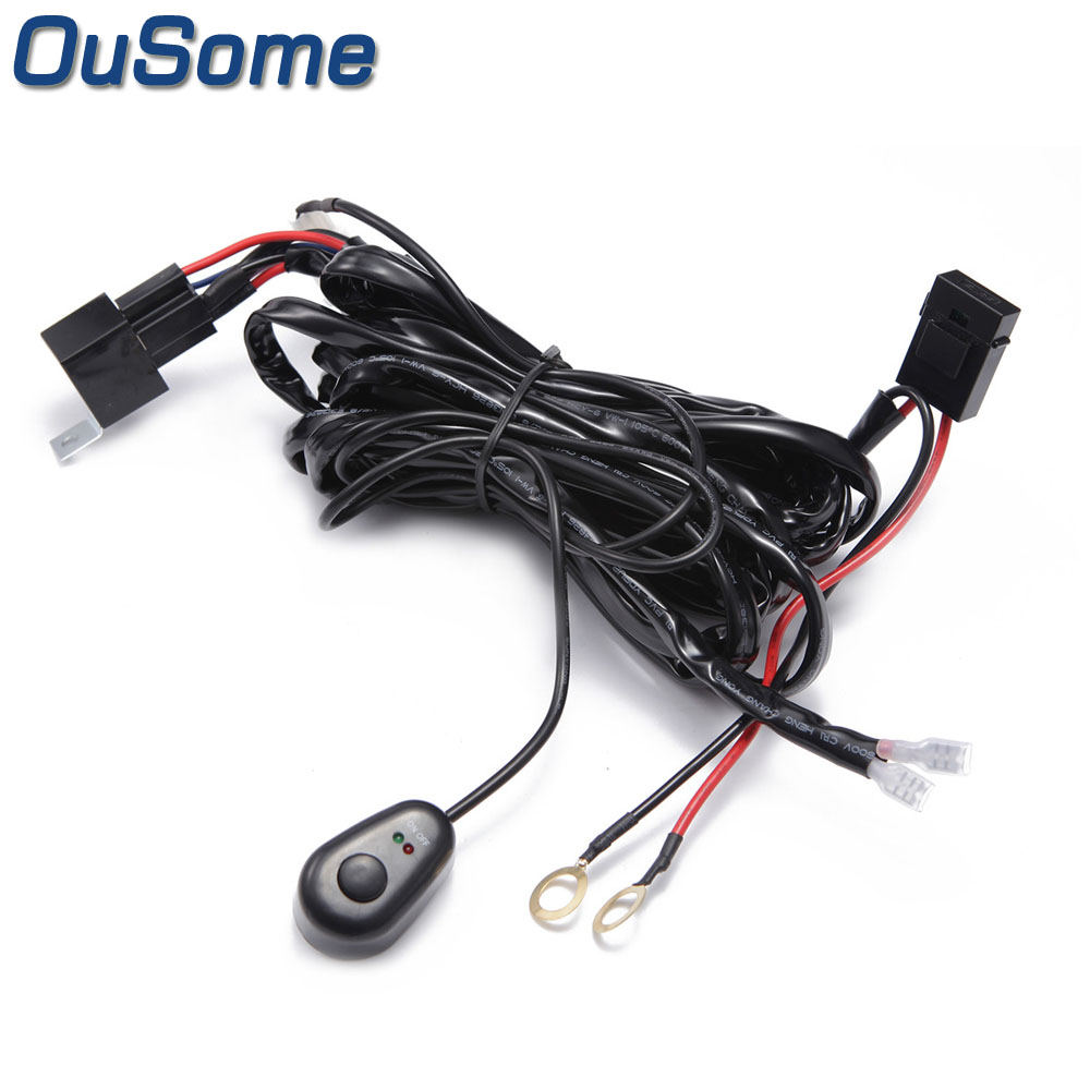 hight resolution of ousome high quality waterproof universal car wiring harness 12v 40a switch with led indicators automotive in wire from automobiles motorcycles on
