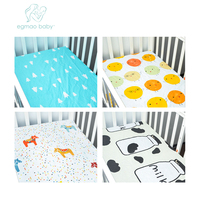 High Quality 100 Organic Cotton Baby Crib Sheets Super Sofe New Design Crib Sheets Fits For
