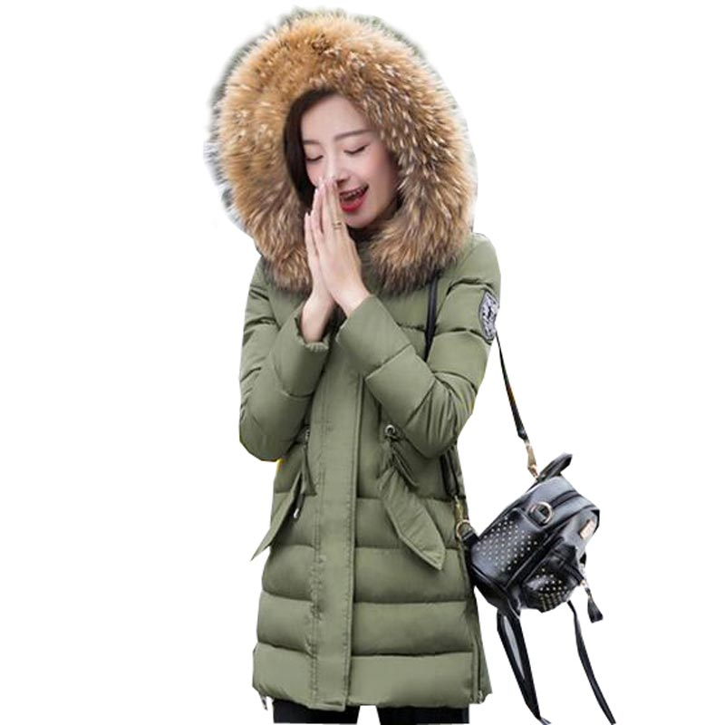 women slim long thicken wadded jacket down parka 2016 new arrival faux fur collar women coat plus size hooded outerwear kp0727 2015 hot new thicken warm woman down jacket coat parkas outerwear luxury hooded fox fur collar long slim cold plus size 4xxxxl
