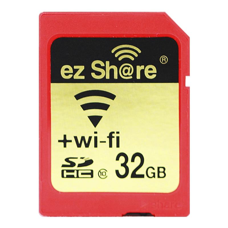 2018 Nuovo 100% originale Reale Capacità Ez Condividi Wifi Sd Card Sdhc Sdxc Memory Card 16G 32G 64G 128G C10 per la Macchina Fotografica di trasporto libero