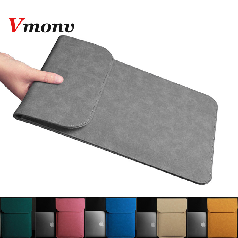 Ultra-thin PU Leather Laptop Case for Macbook Air Pro Retina 11 12 13 15 Inch Liner Sleeve bag For Macbook A1706 A1707 A1708Ultra-thin PU Leather Laptop Case for Macbook Air Pro Retina 11 12 13 15 Inch Liner Sleeve bag For Macbook A1706 A1707 A1708