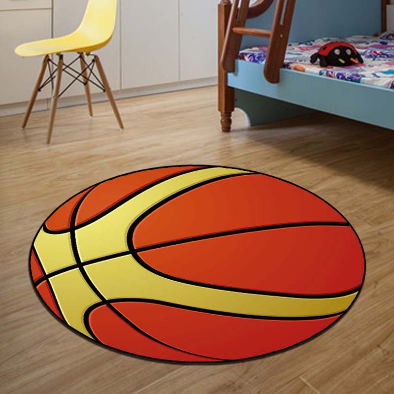 Basketball Rug Diameter 60cm/80cm Round Carpets And Rugs For Children Room  Skidproof Area Carpet