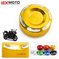 For Yamaha R3 R25 YZF R1 YZF R6 MT 07 MT 09 New Motorcycle accessories CNC Rear Brake Fluid Reservoir Cover Cap Gold Aluminum