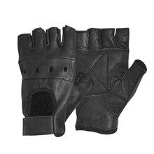 HOT Fashion Men's Leather Gloves Half Finger Fingerless Stag