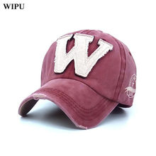 WIPU 2018 hot cotton embroidery letter W baseball cap snapback caps fitted  bone casquette hat for men custom hats-in Baseball Caps from Apparel  Accessories ... 181bfd7fe601