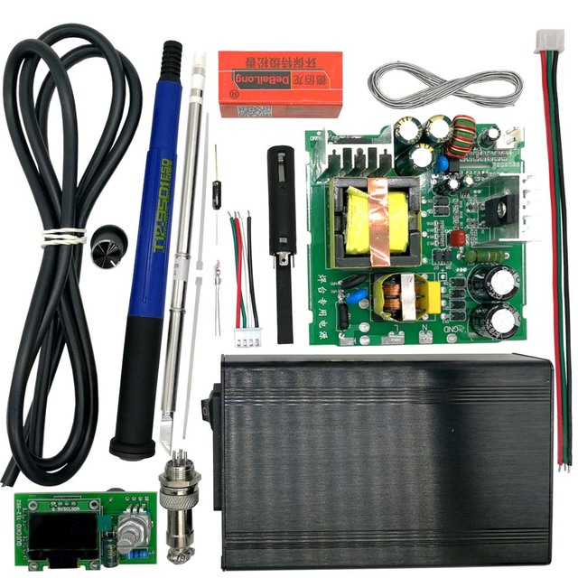 QUICKO STC T12 OLED Digital Soldering Station DIY kits Temperature Controller new version with 9501 Handle vibration switch