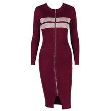 Молнии с длинным рукавом полосатый вязаный Свитеры для женщин платье для женщины 2018 теплая зима весна трикотаж Платья для женщин ws5357z